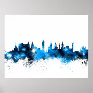 Glasgow Scotland Skyline Poster