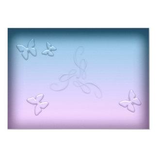Glass Butterflies Invitation