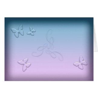 Glass Butterflies (landscape) Card