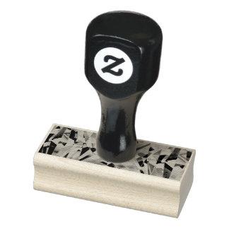 "Glass Diamond 1"" x 2.5"" Rubber Stamp"