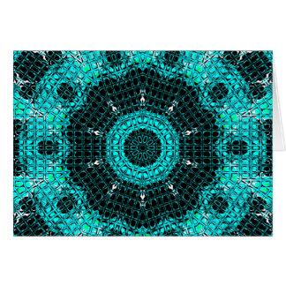 Glass Effect Mosaic Aquamarine Card