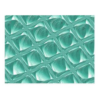 Glass Prison teal abstract minimalist square art Postcard