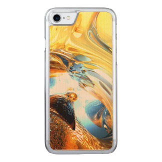 Glass Tidal Wave Abstract Carved iPhone 8/7 Case