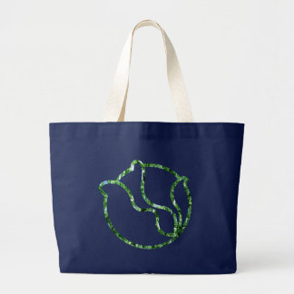 Glassy Head of Cabbage Large Tote Bag