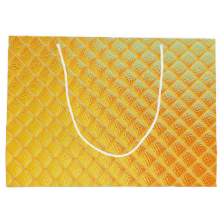 Gleaming Golden Plate Large Gift Bag