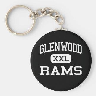 Glenwood - Rams - Senior - Glenwood Iowa Basic Round Button Key Ring