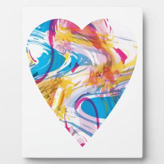Glitch Art Heart Display Plaques