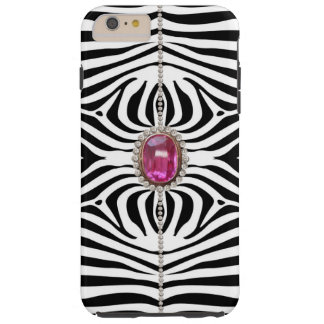 Glitter Diamonds and Zebra Tough iPhone 6 Plus Case
