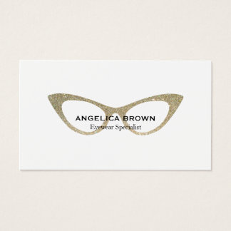 Glitter Eye Glasses Business Card