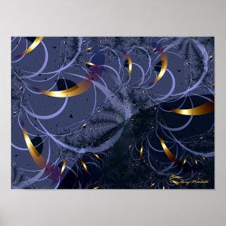 Glitter Fine Fractal Art Poster