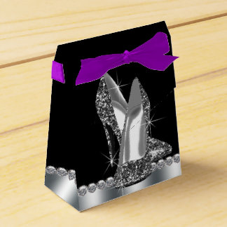 Glitter High Heel Shoe Birthday Wedding Favour Boxes