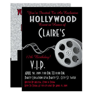 Glitter, Hollywood Glam Party Invitations
