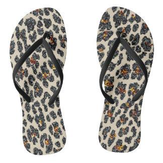 Glitter Leopard Jandals