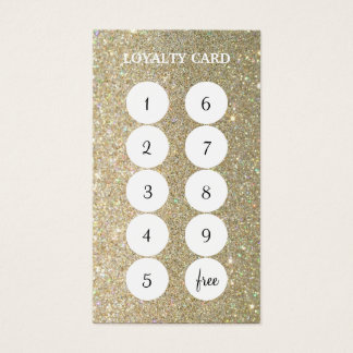 Glitter Loyalty Punch Business Card