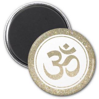 Glitter OM Symbol Fridge Magnet