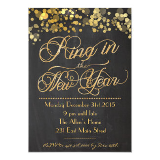 Glitter Ring in the New Years EVE Invitation
