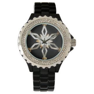 Glitter Silver Festive Snowflake Watch