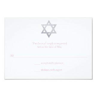Glitter Star of David Bat Mitzvah RSVP Card