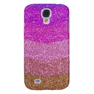 Glitter texture - Violet to bronze Galaxy S4 Case