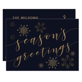 Glitterati Snowflakes Holiday Greeting Card