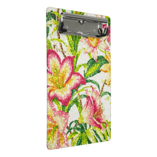Glittering Spring Floral Tapestry Mini Clipboard
