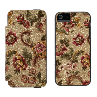 Glittery Earthtone Floral Tapestry Incipio Watson™ iPhone 5 Wallet Case
