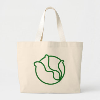 Glittery Head of Cabbage Large Tote Bag