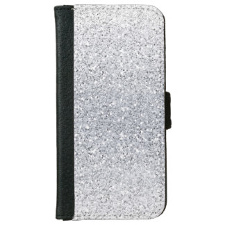 Glittery Silver Ombre iPhone 6 Wallet Case