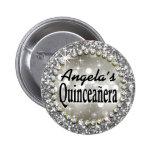 Glitz Glam Bling Quinceañera Celebration silver