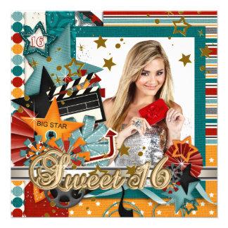 Glitz Glamor Movie Star Sweet 16 Invitations