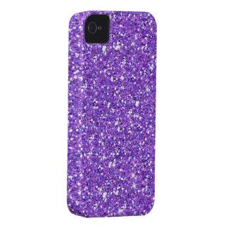 Glitzy Eggplant Glitter iPhone 4 Case-Mate Case