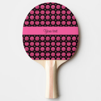 Glitzy Sparkly Hot Pink Glitter Buttons Ping Pong Paddle