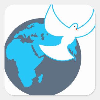 Global Peace Square Sticker