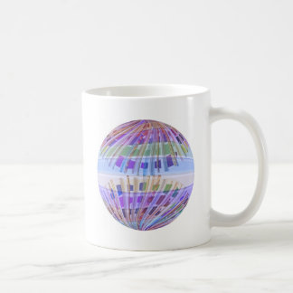 GLOBE Earth :  Holy Purple Light Show Basic White Mug
