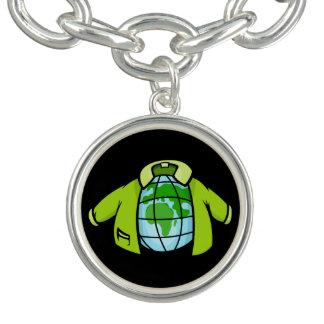 Globe Jacket Cartoon illustration of earth globe p
