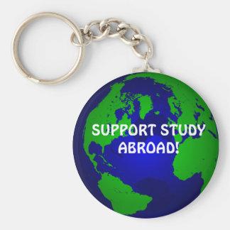 globe, SUPPORT STUDY ABROAD! Key Ring