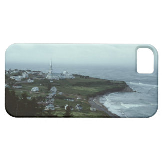 Gloomy seaside village iPhone 5 cover