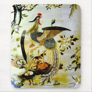 Glorious phoenix antique Chinese embroidery Mouse Pad