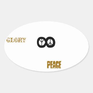 GLORY 2 GOD PEACE ON EARTH OVAL STICKER