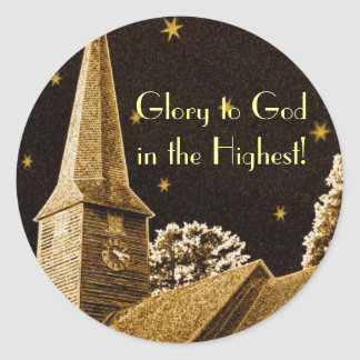 Glory to God in the Highest! Round Stickers
