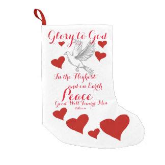 Glory to God Small Christmas Stocking