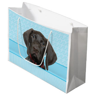 Glossy Grizzly in Blue Large Gift Bag
