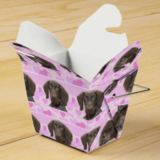 Glossy Grizzly in Pink Favour Boxes