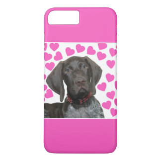 Glossy Grizzly Valentine's Puppy Love iPhone 8 Plus/7 Plus Case