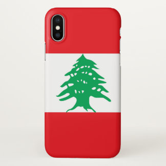 Glossy iPhone Case with Flag of Lebanon