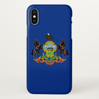 Glossy iPhone Case with Flag of Pennsylvania