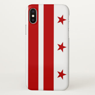 Glossy iPhone Case with Flag of Washington DC