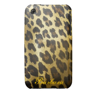Glossy Leopard Fur Print iPhone 3 Cases