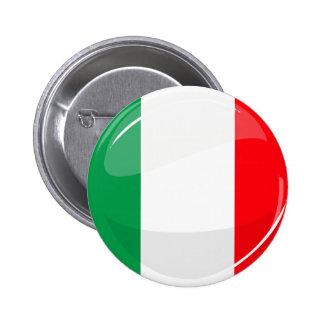 Glossy Round Italian Flag 6 Cm Round Badge