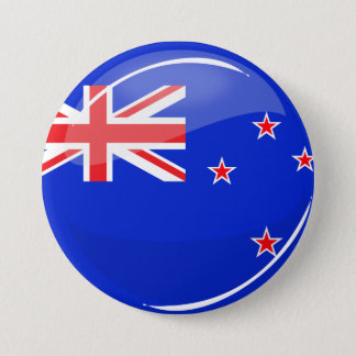 Glossy Round New Zealand Flag 7.5 Cm Round Badge